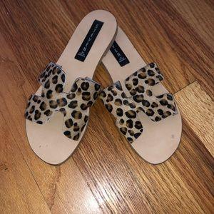 Steve Madden cheetah slides